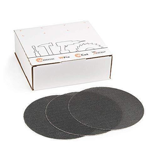 Schleifscheiben 225 Klett 80 | 25 Stück | Siliziumkarbid Schleifgitter K80 | Ø 225 mm | Für Deckenschleifer, Trockenbauschleifer & Tellerschleifer