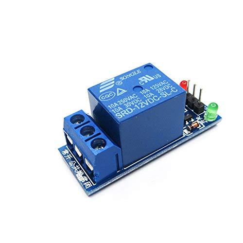 ZZQQ Módulo de relevo Tarjeta de Expansión Módulo de relé de 12V 1 Canal de Nivel bajo de activación del relé para el Voltaje de Control