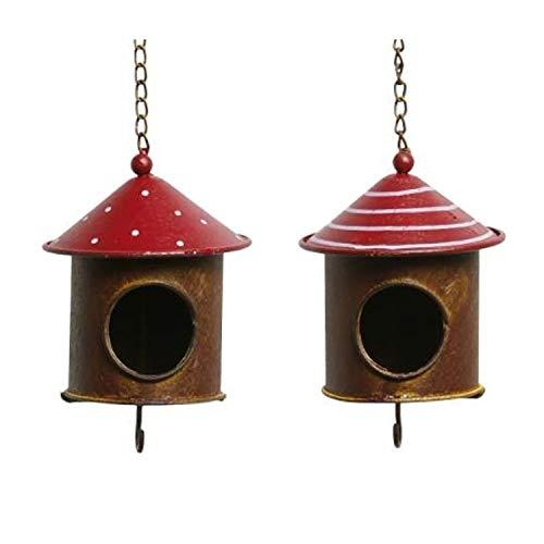 Posiwio Vogelfutterstelle, Vogelhaus und Meisenknödelhalter Metall ausgefallen und dekorativ