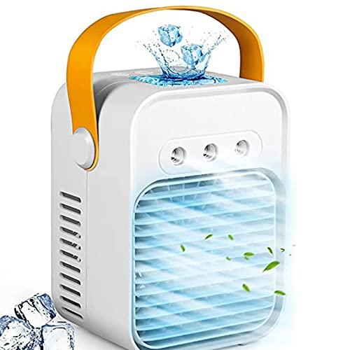 Enfriador de aire portátil 3 en 1,enfriador de aire, humidificador y purificador, enfriador evaporativo, 3 velocidades ajustables,para el hogar y la oficina-White