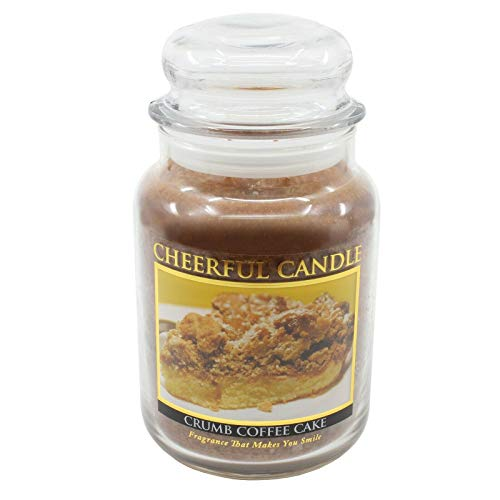 Braides Candles and Holders Crumb Coffee Cake Scented Candle 24 oz (Eco Candles and Quality Holders)