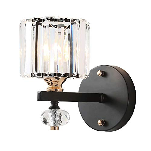 Kristallen industriële wandlampen muur woonkamer eenvoudige moderne slaapkamer-lampen licht luxe bedlampjes transparante lijn [energieklasse A ++]