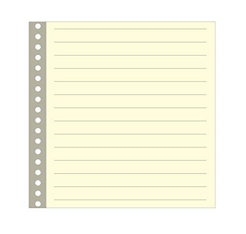 Semikolon (353064) Büttenpapier liniert 17 fach gelocht - Geeignet für Foto- und Gästebuch 17-Ring - 20 Blatt im Format 22 x 22 cm