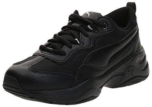 PUMA Damen Cilia Sneaker, Black-Silver-Peach Bud, 41 EU