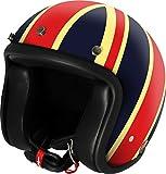 AIRBORN casco Moto Jet STEVE AB 34, Décor UK/brillante