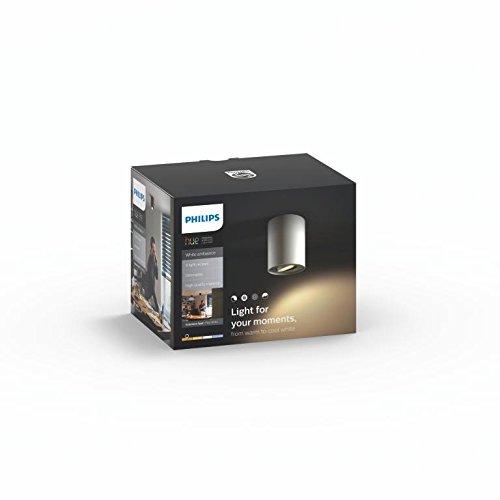 Philips Hue LED Spot Pillar Erweiterung, alle Weißschattierungen, steuerbar via App, weiß, 5633031P8 - 4