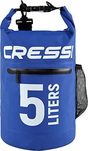 Cressi Dry Bag Mochila Impermeable para Actividades Deportivas, Unisex Adulto, Azul Oscuro, 10 L