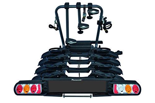 Peruzzo 708/4 Pure Instinct 4 Fahrradträger Anhängerkupplung 4 Fahrrad, schwarz, 100 x 80 x 70 cm