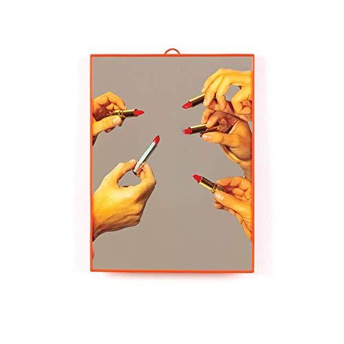 SELETTI Wears TOILETPAPER Plastic Mirrors Specchi, Medio/Lipsticks