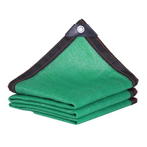 Green Shade Net, Patio Deur En Raam Balkon Zonnebrandcrème Zwarte Rand 90% Shading Rate Rechthoek