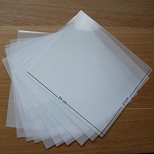 T S S Transferpapier / Folie, 210 mm x 240 mm, Acryl, Strasssteine, für viele Verwendungszwecke geeignet, 10 Bögen