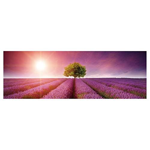 Cuadro de Árbol de la Vida en Lienzo Lila de 150x50 cm - LOLAhome
