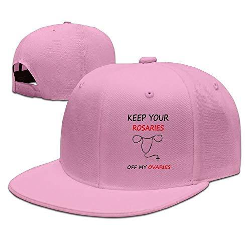 AOHOT Classic Hombre Mujer Gorras de béisbol,Keep Your Rosaries Off My Ovaries Caps Plain Adjustable Trucker Hat Classic