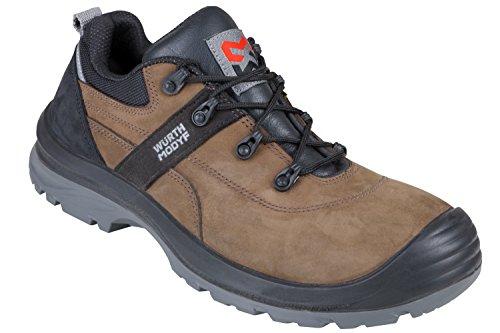 WÜRTH MODYF Sicherheitsschuhe S3 Corvus Nubuk braun: Der multifunktionale Schuh ist in Größe 43 erhältlich. Der zertifizierte Arbeitsschuh ist ideal für Lange Arbeitsalltage.