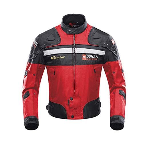 MOOTOO Giacca Motocicletta, giubbotto moto uomo estiva 5 Armatura protettiva per uomo Donna, protezioni abbigliamento moto