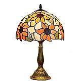 30x48cm Dormitorio Luz de lectura junto a la cama Creatividad pastoral Lámpara de mesa de arte Lámpara de lectura de estilo europeo Tiffany Style Restaurant Lámpara de mesa creativa Base de metal...