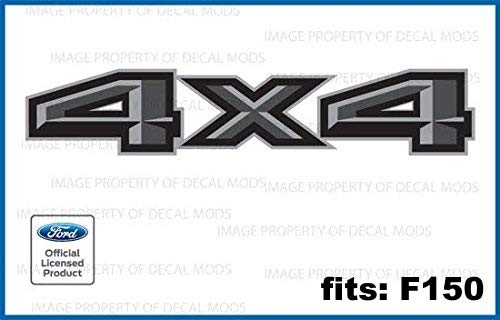 Decal Mods 4X4 Decals Bedside Decals Truck Stickers for Ford F150 Gray / Grey...