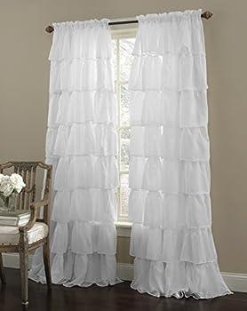 ruffle curtains 2 panels