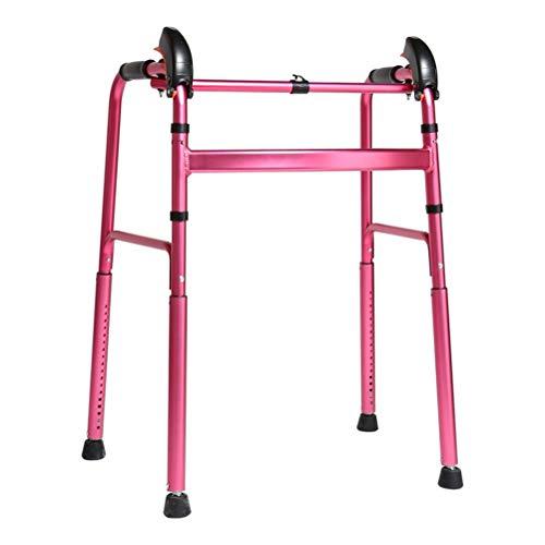 MU Gehhilfe Rahmen Leichtklapp Gehen Krücken Für Mobilität Alten Mann Behinderung Menschen Rehabilitation Und Gehtraining,Rosa
