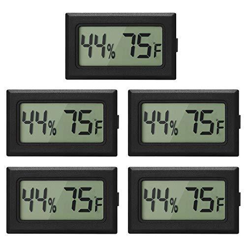 EEEkit 5-Pack Mini Thermometer Hygrometer, Small Digital Electronic Temperature...