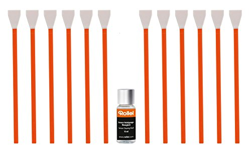 Rollei Sensorreinigung Set MFT - Bundle inklusive Reinigungsflüssigkeit und Sensorpinsel für schlierenfreie Nass- und Trockenreinigung, für Kameras mit MFT Sensor