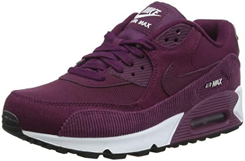 Nike Women's Air Max 90 Lea Sneaker, Red Bordeaux/Black/White 601 ...