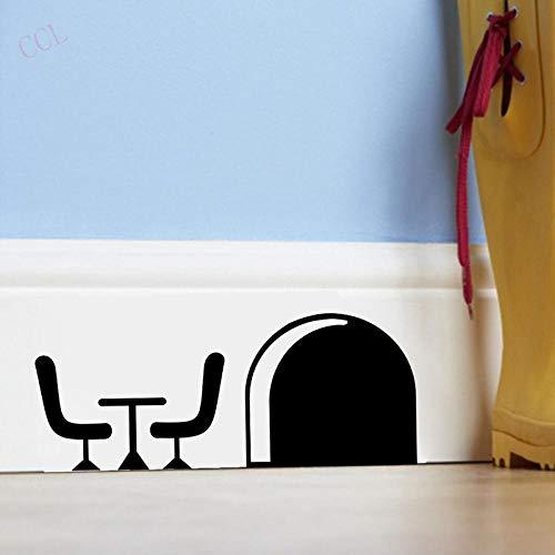 Cooldeerydm cartoon muismat van vinyl met grappige sticker