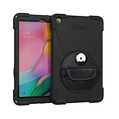 "The Joy Factory aXtion Bold MP Water-Resistant Rugged Shockproof Case, Built-in Screen Protector, Hand Strap, Kickstand for Samsung Galaxy Tab A 10.1"" 2019 (CWS112MP)"