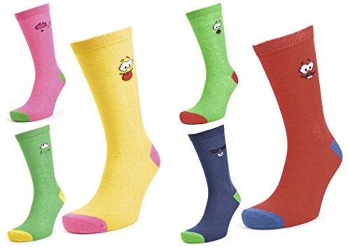 Mens coton riches Smiley 12 paires de chaussettes 39-45 EUR