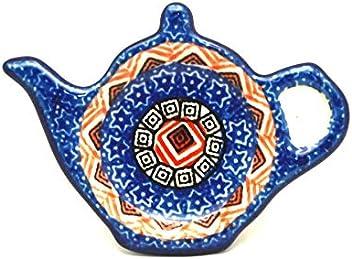 Blue Chicory Polish Pottery Tea Bag Holder Nayancorporation Com