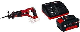 Einhell TE-AP 18 Li Solo Power X-Change 18 V Lithium Cordless Reciprocating Saw - Red with Einhell 4512041 18V 3,0Ah PXC S...