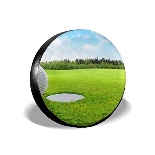 jingqi Club De Golf Y Pelota En El Bosque De La Naturaleza De Hierba Verde,Fundas De Neumáticos De Repuesto,Cubierta De La Llanta,Funda Cubre Rueda De Recambio,Cubierta De Neumático Bolsa 15In