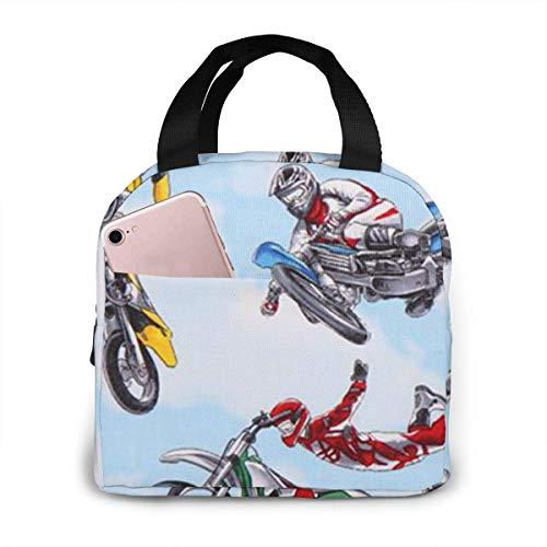 shenguang Azul Moto Motocross Bolsas de almuerzo deportivas