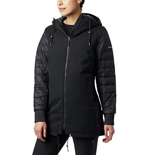 Columbia Boundary Bay Hybrid, Veste Mi-longue Imperméable, Femme, Noir (Black), XL