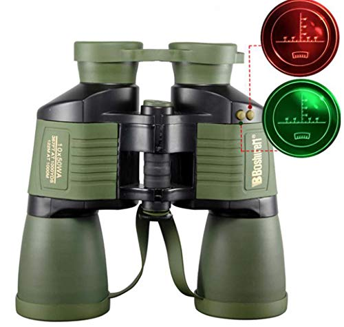 ZTYD Binoculares, con Alcance de visión Nocturna Coordinate 10X50 Autofocus HD, telescopio Impermeable Diario, observación de Aves al Aire Libre para Adultos, Viajes, Caza, fútbol