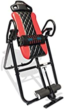 Health Gear HGI 4.2 Patent Pending Diamond Edition Heat & Vibration Massage Inversion Table, Red, Red