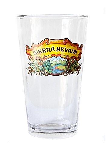 Sierra Nevada 16 Ounce Full Color Logo Pint - Single Glass
