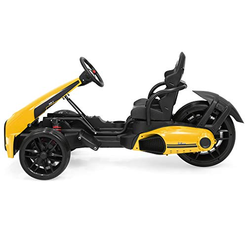 Best Choice Products Kids 12V Go-Kart Racer Ride On Car w/ Push-to-Start, 2 Speeds, Yellow