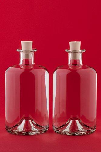4 Leere Glasflaschen 1000 ml Apotheker Flaschen 1 Liter 100 cl Likörflaschen Schnapsflaschen Essigflaschen Ölflaschen von slkfactory