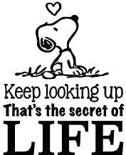 DS Inspirational Decals Snoopy Quote Vinyl Wall Decal - Charlie Brown Peanuts Cartoon Character Stickers for Toddler, Baby, Kids Room ot bedrooms - 18