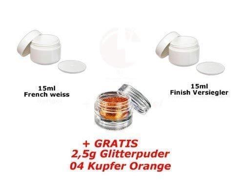 15ml Français Blanc + 15ml FINITION + glitterpuder 04 GRATUIT