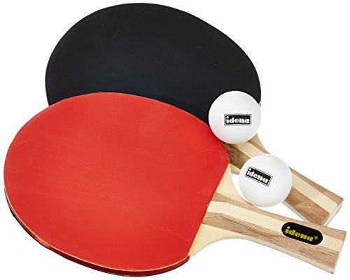 Idena 7429837 - Tischtennis Set Turnier mit 2 Schlägern, 2 Bällen und einer Tasche, perfekt für Unterwegs, sortiert