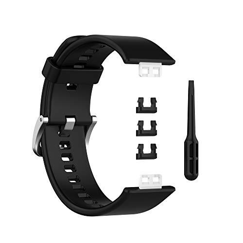 Poxcap Correa de reloj deportivo de silicona Reemplazo de pulsera Compatible con cambio rápido Correa de reloj deportivo de silicona Reemplazo Correas de reloj rápido compatibles Correas para HUA