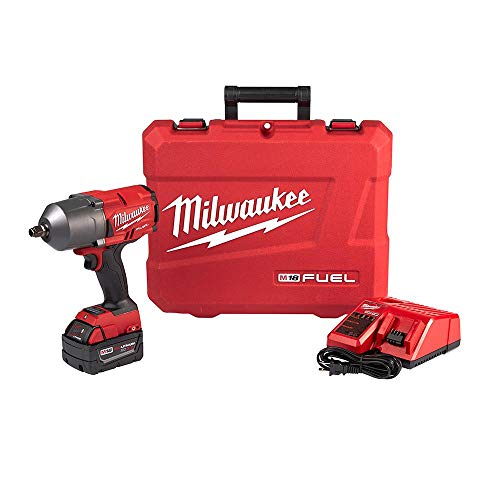 Milwaukee M18 FUEL 18-Volt Lithium-Ion Brushless Cordless 1/2 in. Impact Wrench with Friction Ring Kit with One 5.0Ah Batteries