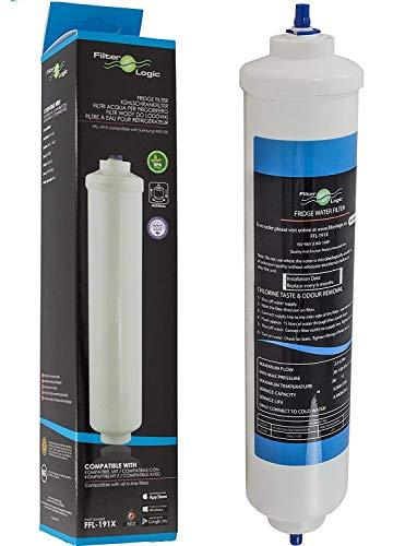 FilterLogic FFL-191X - Filtro de agua externo para frigo - compatible para Samsung DA29-10105J , HAFEX/EXP , HAFEX EXP / LG 5231JA2010B , 5231JA2010C / HAIER 0060823485A / WHIRLPOOL USC100 , USC100/1