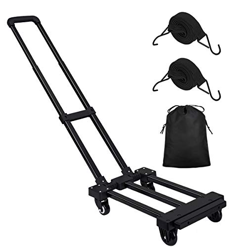 KEDSUM 150° Adjustable Folding Hand Truck, 220 lbs Heavy Duty 4...