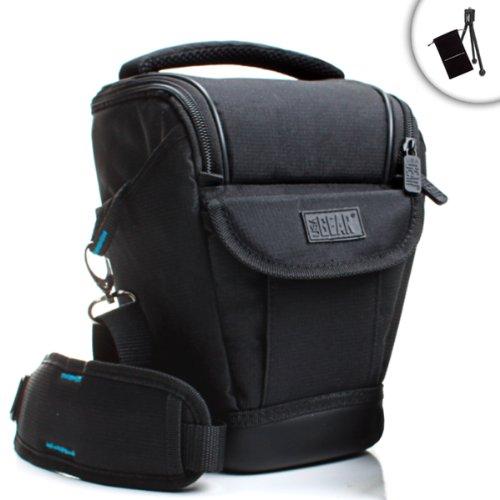 USA Gear Kameratasche/Schultertasche für DSRL Nikon D3300, Canon EOS 750D, 1300D und mehr