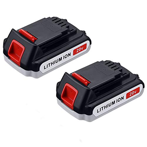 Powerextra 2 Pack 2.5Ah LBXR20 Battery Replace for Black and Decker 20V Battery Max Lithium LB20 LBX20 LST220 LBXR2020-OPE LBXR20B-2 LB2X4020 Cordless Tool Battery