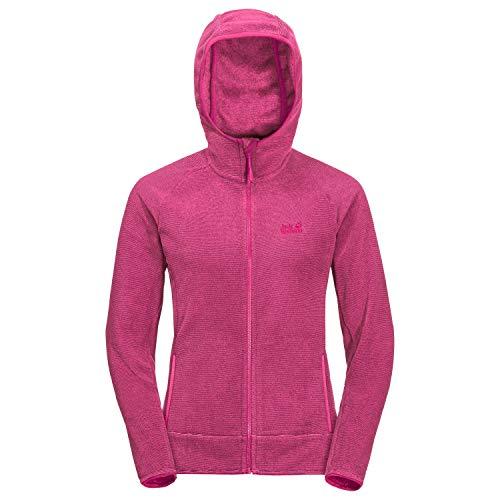 Jack Wolfskin Damen Arco Fleecejacke, pink Peony Stripes, XL