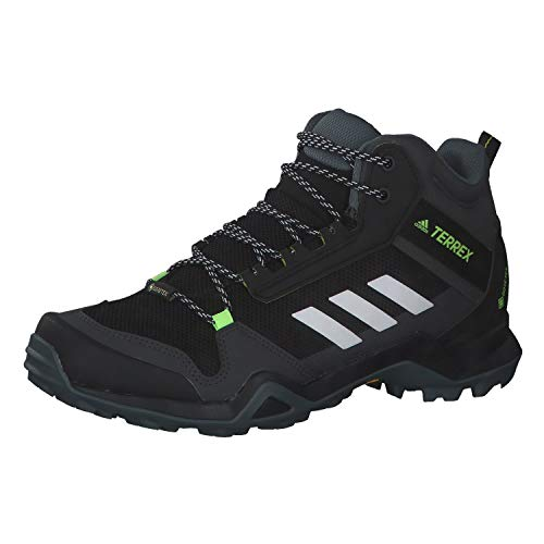 adidas Herren Terrex AX3 MID GTX Trekking-& Wanderstiefel, Mehrfarbig (Negbás Ftwbla Amaaci), 46 EU